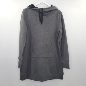 Gaiam Long Hooded Pullover Sweater Gray Charcoal M